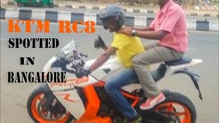 KTM RC8 SPOTTED ONROAD IN BANGALORE