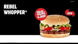 Checkout Basket HJ BK Rebel Whopper 100%Plant 0%Beef