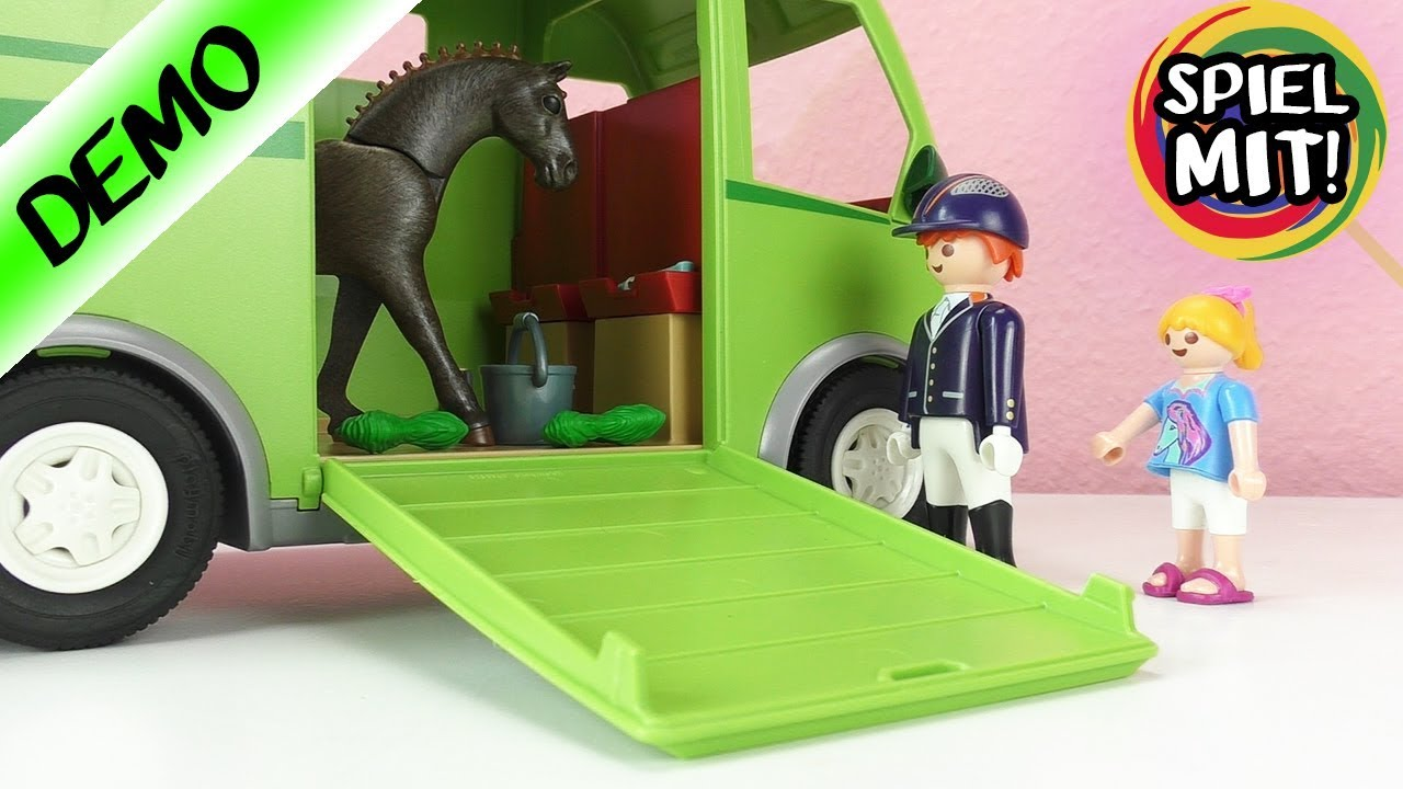 playmobil pferdetransporter neu pferde film mit hannah vogel aufbauen demo spiel mit mir. Black Bedroom Furniture Sets. Home Design Ideas