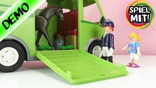 Playmobil Pferdetransporter *NEU* Pferde Film mit Hannah Vogel + Aufbauen + Demo | Spiel mit mir