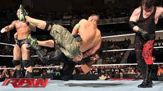 John Cena & Roman Reigns vs. Randy Orton, Seth Rollins & Kane - 3-on-2 Handicap Match: Raw, July 14,