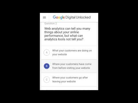 Google digital unlocked answers- latest answers 16th July 2018