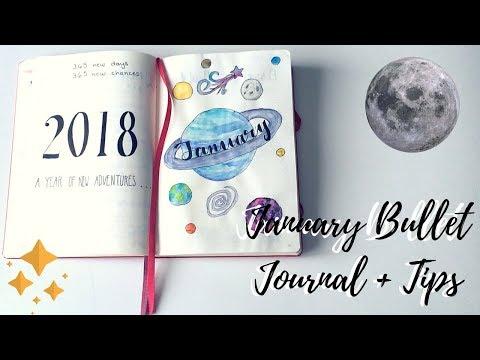 January Bullet Journal + Tips🖍// Ally Studies