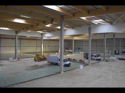 Timelapse CONSTRUCTION PLATEFORME SUPPLY CHAIN MAURIN FIXATION