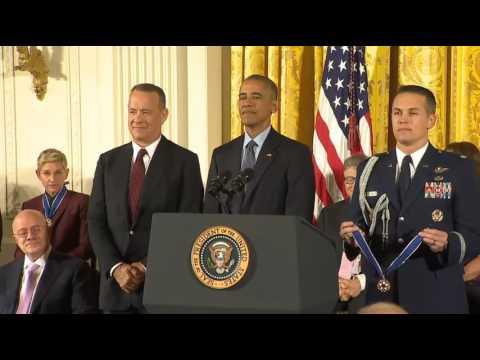 Tom Hanks Presidential Medal of Freedom 2016