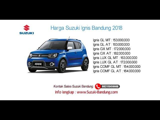 Harga Suzuki Ignis 2018 Bandung dan Jawa Barat