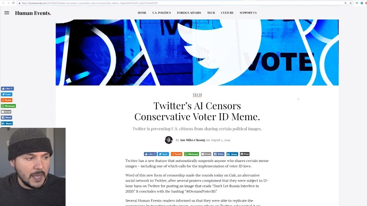 Twitter Is Suspending Conservatives For Posting A Demand Voter ID Meme