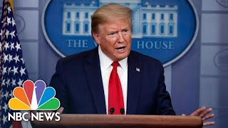 Live: Trump Holds First White House Coronavirus Briefing Since April | NBC News