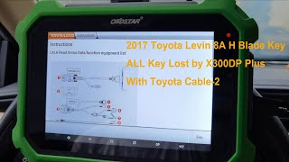 2017 Toyota Levin 8A H Blade Key AKL By Obdstar X300DP Plus With Toyota 2 Cable