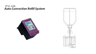 How to Refill HP 61 61XL Color Ink Cartridge - Auto Convection Refill