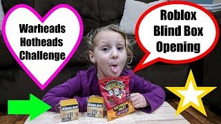 Roblox Toys Mystery Blind Box Opening Review & Kids Warhead Hothead Candy Challenge #RobloxToys