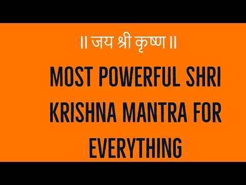 Most Powerful Shri Krishna Mantra for Everything - YouTube