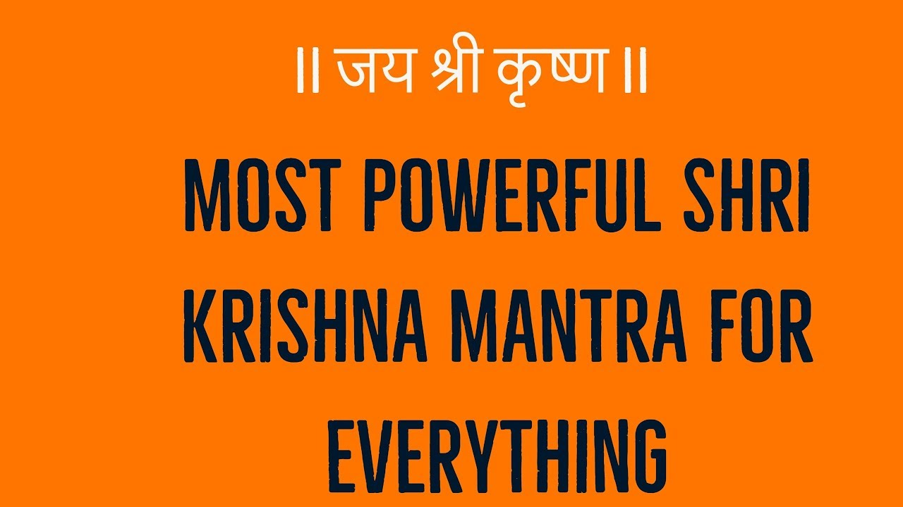 Most Powerful Shri Krishna Mantra for Everything