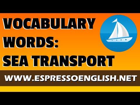 English Vocabulary Words For Sea Transportation