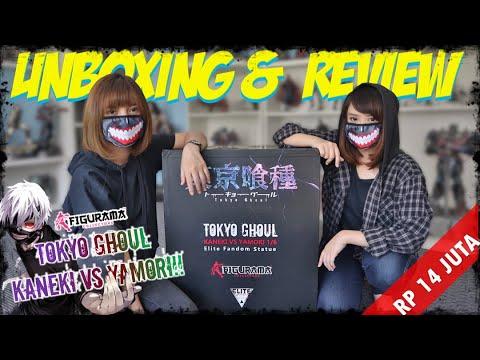 SOK KABEH! BANTING STATUE HARGA 14 JUTA!! UNBOXING TERBARBAR FIGURAMA TOKYO GHOUL KANEKI VS YAMORI!!