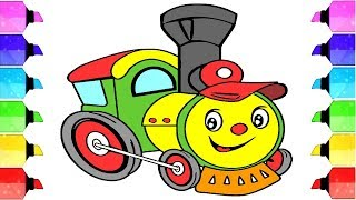 How to draw a train for kids | Art For Kids Hub | Train easy draw tutorial