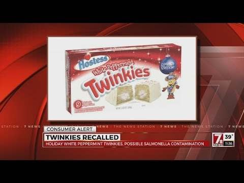 Twinkies recalled over possible salmonella contamination