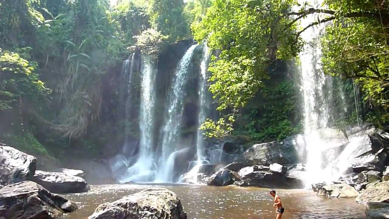 Phnom Kulen Waterfall Youtube