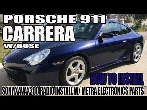 2002 porsche 911 carrera w/ bose - sony xavax200 radio install with metra  parts - youtube  youtube