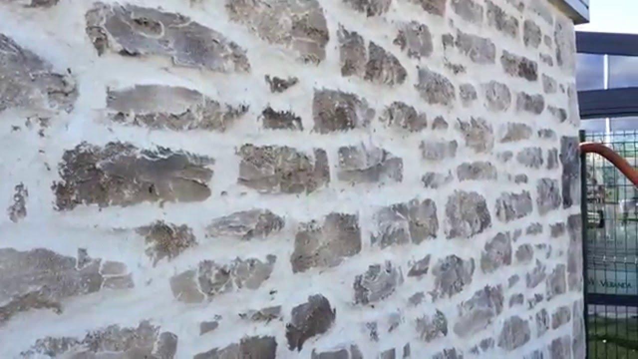 Facon pierre enduit mural plan de campagne 13 youtube for Enduit imitation pierre