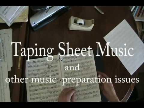 Taping Sheet Music