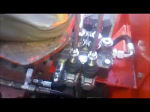 new hydraulic control valve on the MF165  YouTube