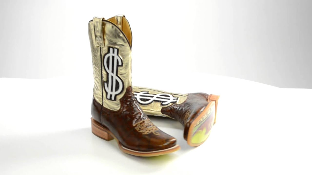f6642743f3efe9 Tin Haul Gold Digger Cowboy Boots - Square Toe, Leather (For Women ...