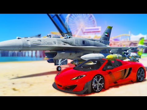 GTA 6 Gameplay in GTA 5! NEW SUPER CARS AND NEW FIGHTER JET!  (GTA 5 Mods)