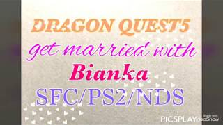 DRAGON QUEST5  Wedding event Bianka SFC/PS2/Nintendo DS