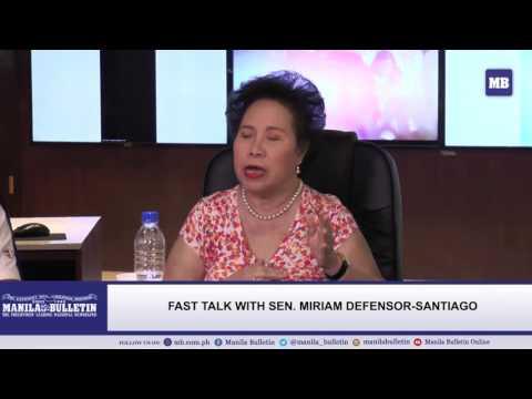 Fast Talk with Sen. Miriam Defensor-Santiago