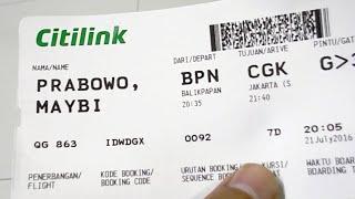 Citilink QG 863 A320 200 Balikpapan-Jakarta (night flight) part 1/2