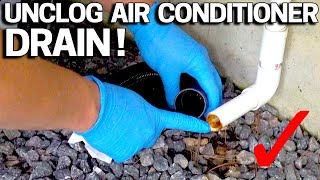 How to UNCLOG your AC DRAIN Condensate line FAST - Water stains on Ceiling? or in the Pan