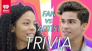 Alex Aiono Challenges A Super Fan In A Trivia Battle | Fan Vs. Artist Trivia