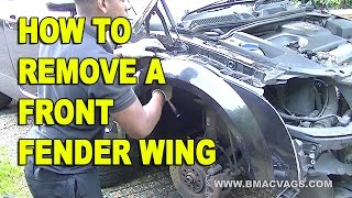 How To Remove a Audi TT Front Wing Fender