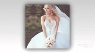 Бальное свадебное платье с кристаллами для невесты