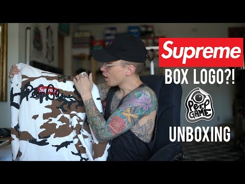 AUTHENTIC SUPREME BOX LOGO! PEEP GAME ALTERED | PEEP GAME UNBOXING