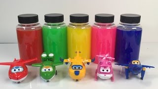 Learn colors for babies with super wings toys I Chubby Baby