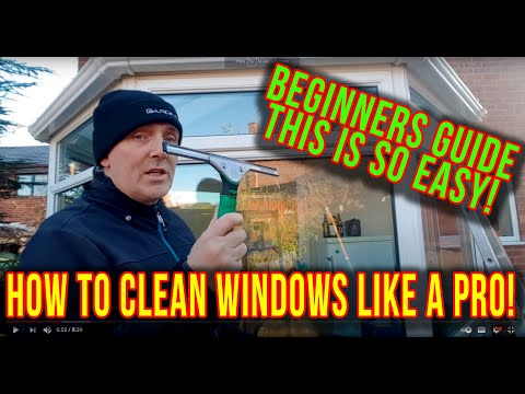 Traditional Window Cleaning - First Clean - How to