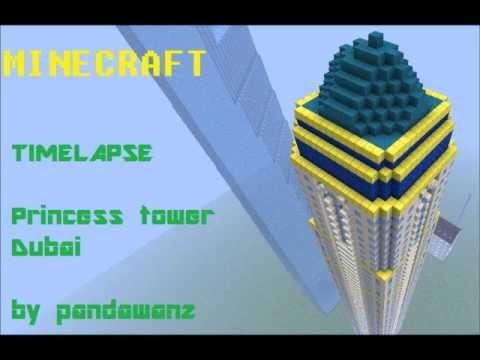 Minecraft timelapse : Princess tower , Dubai
