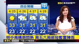 氣象時間 1080424 晚間氣象 東森新聞