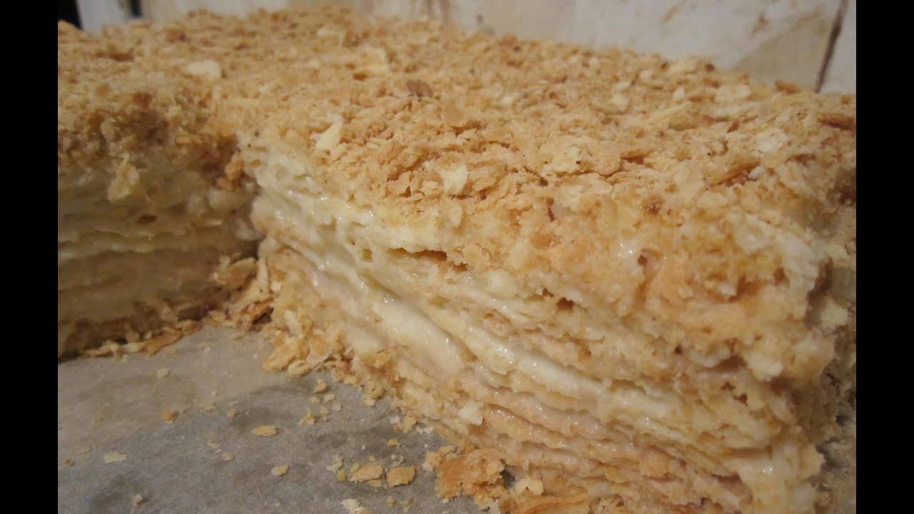 торт раполеон кдасический как приготовить