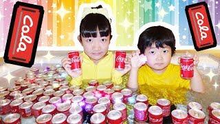 ★「夢の光るコーラ風呂!」キラキラ!光る氷&電球ボトル★A dream glittering cola bath★
