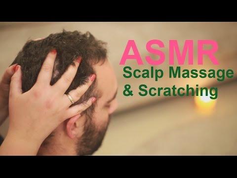ASMR Male Vigorous Scalp Massage   Scratching   Shoulders & Neck Massage    Inaudible Language