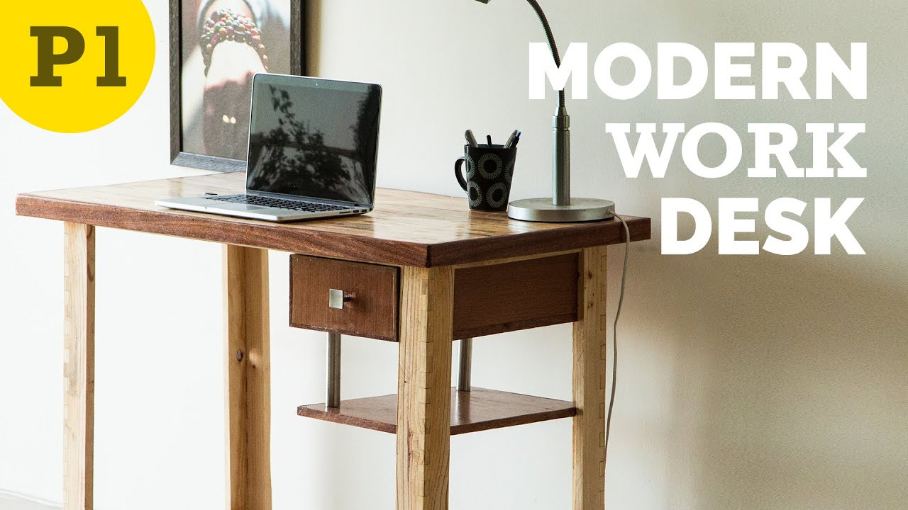 modern style work desk – how to build - youtube