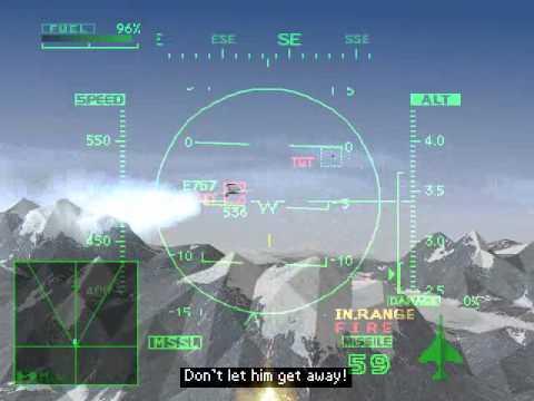 Ace Combat 2 Playstation 1 Analise, jogo em curso