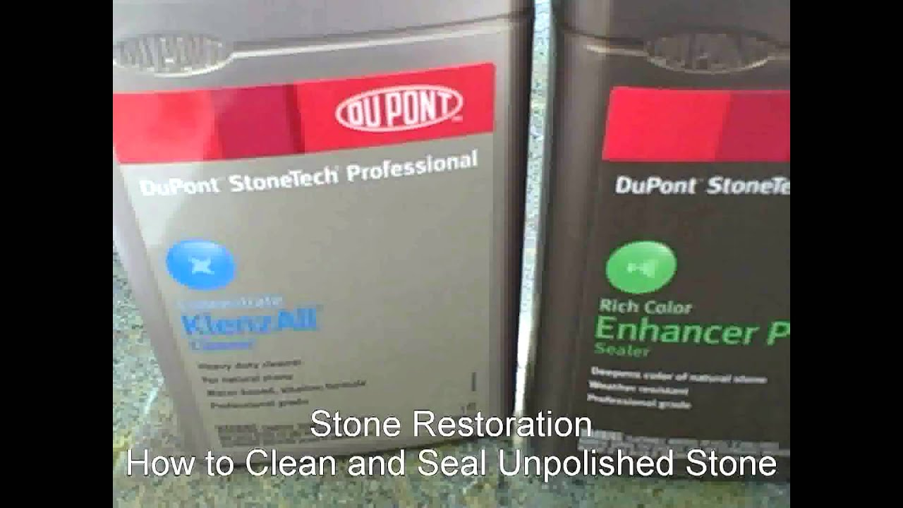 how to clean and seal unpolished stone limestone slate monterey