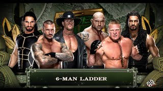 WWE 2K16 - Money In The Bank - 6 man Ladder Match at Money In The Bank 2016 Gameplay (PS4)