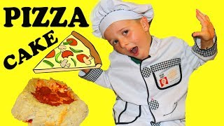 DIY Pizza Cake Easy Recipe! How To Make a Giant Layered Pizza For Kids & Family