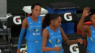 WNBA 2K20 No Crowd - Indiana Fever vs  Dallas Wings Full Game (NBA 2K20 Gameplay)