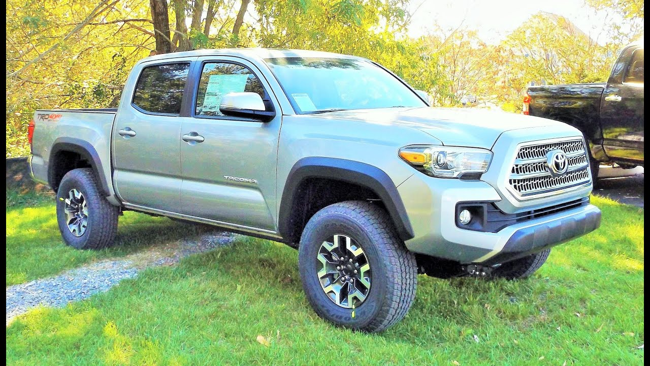 2016 toyota tacoma trd off road 4x4 v6 double cab start up review and tour youtube. Black Bedroom Furniture Sets. Home Design Ideas